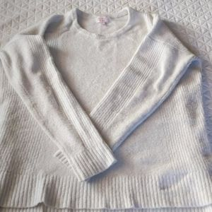 White as large maternity sweater